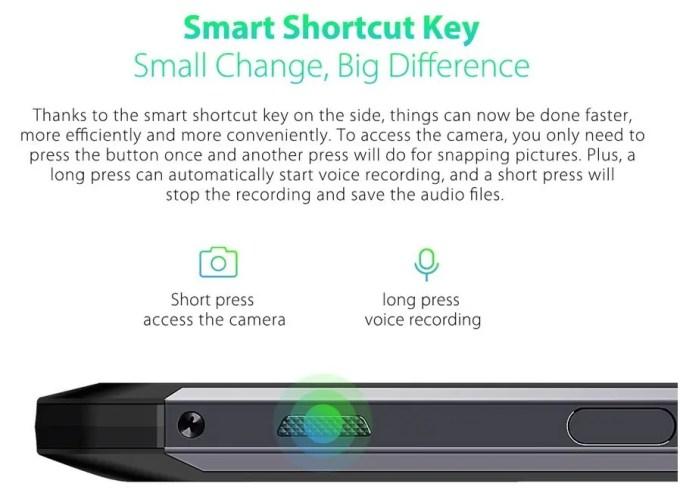 Ulefone Power 5 スマートショートカットキー