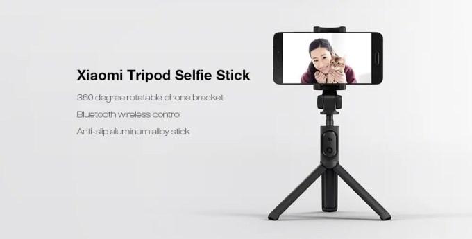 Xiaomi スマホ折りたたみ三脚・自撮り棒3