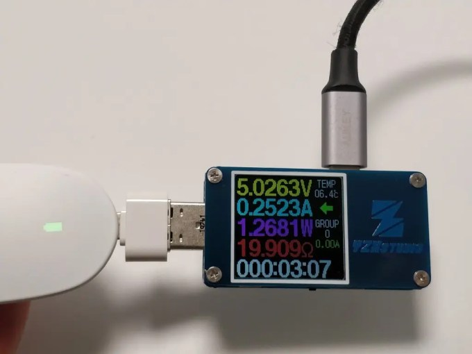 YZXstudio ZY1276  USB Type-C OUTの電源供給でも使える2