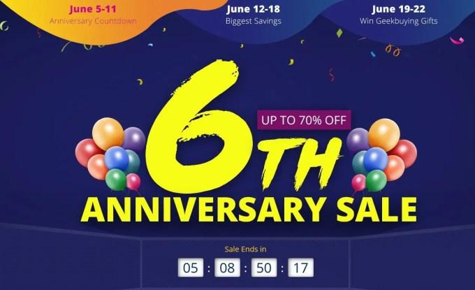 GeekBuying 6周年記念キャンペーン