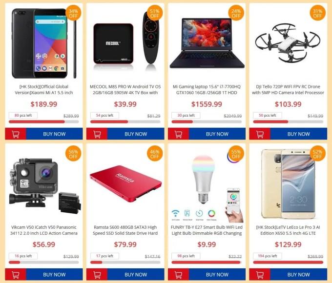 GeekBuying 6周年記念キャンペーン Sale
