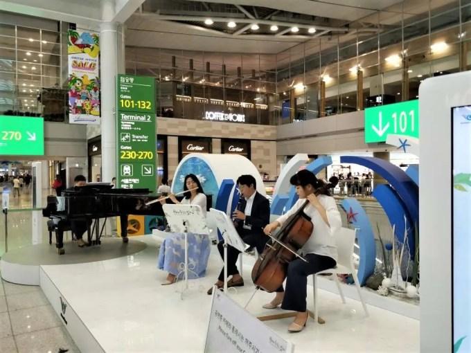 仁川国際空港 演奏