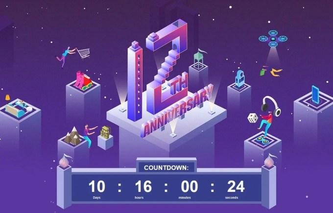 Banggood12周年キャンペーンもうすぐ
