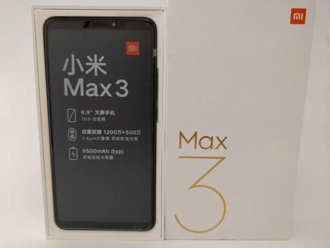 Xiaomi Mi Max 3 箱