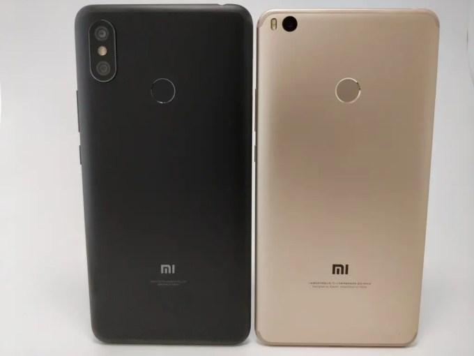 Xiaomi Mi Max 3 VS Mi Max 2 裏面