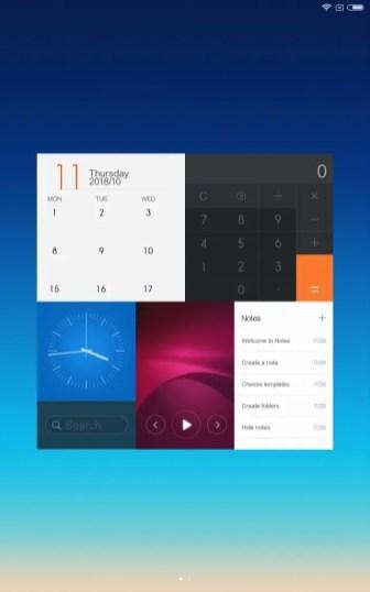 Xiaomi Mi Pad 4 Plus ホーム画面左