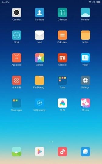 Xiaomi Mi Pad 4 Plus ホーム画面