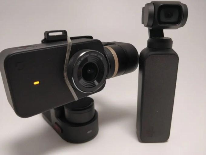 DJI Osmo Pocket Vs Feiyu Tech WG2+Xiaomi Mini Camera ジンバル比較4