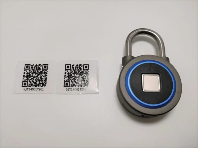 OKLOK Smart Lock QRコード入ってる