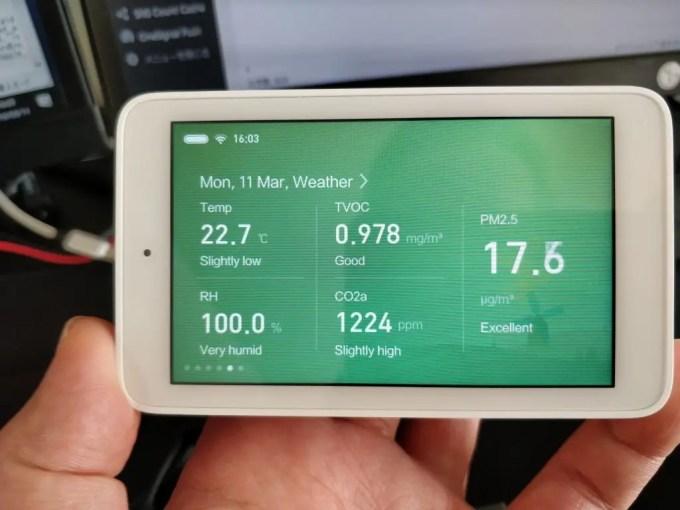 Xiaomi Mijia 空気テスター 二酸化炭素 息