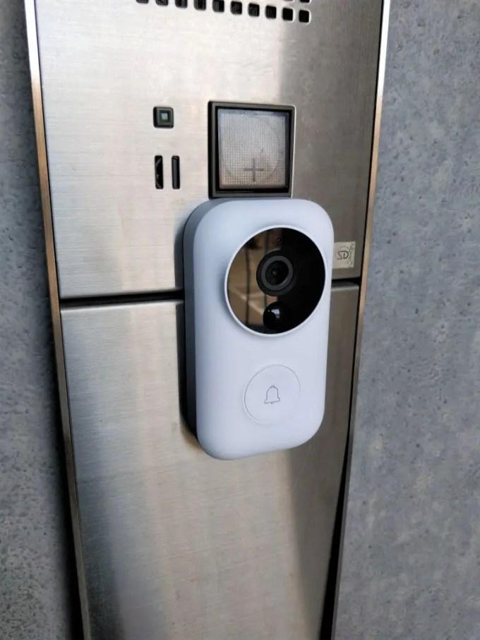 Xiaomi 電池駆動ナイトビジョンカメラ ドアベル 貼る