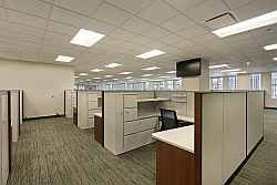 Cubicles in downtown Rochesteroffice building after carpet cleaning