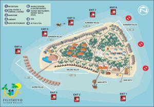 Übersichtskarte von Filitheyo, Malediven - Tauchen auf Filitheyo