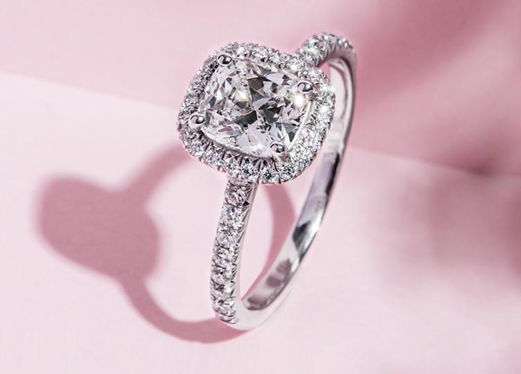 elongated cushion cut engagement rings