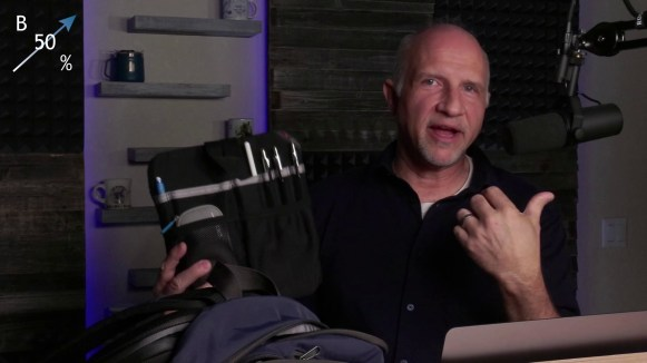 """The secret weapon power up - the """"Freudian Slip"""" from Tom Bihn. No... I have no idea why it's called that."""