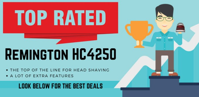 The HC4250 is top rated to shave a man's head