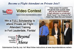 become a corporate flight attendant