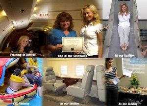 intitial private flight attendant training school