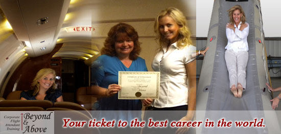 flight attendent class for private jets - classes