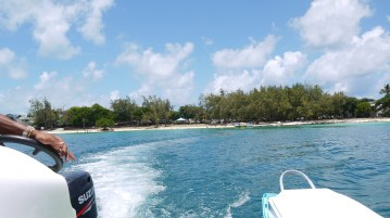 The boat-trip to the snorkel spot
