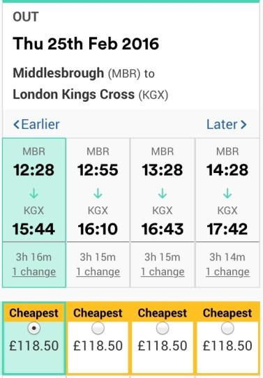 TOMORROW: London train prices
