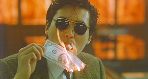 Chow Yun-Fat sparks it up, A Better Tomorrow, 1986