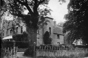 The view of the rectory from the gates