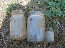 Some glass jars