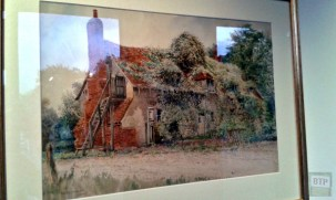 Painting of Southchurch Hall in a dilapidated state