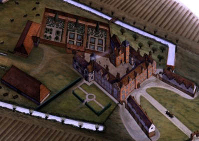 The estate how it might've appeared in the Tudor Era. with thanks to the Friends of Cressing Temple website