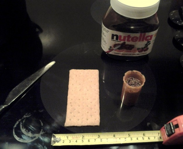 Gather ingredients for your Nutella and weed firecrackers
