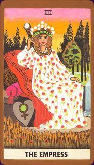 Tarot card reading the empress