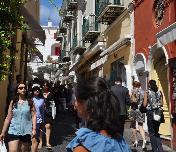 busy streets of capri
