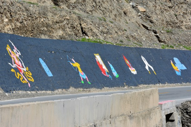 Tibetan art by the road.