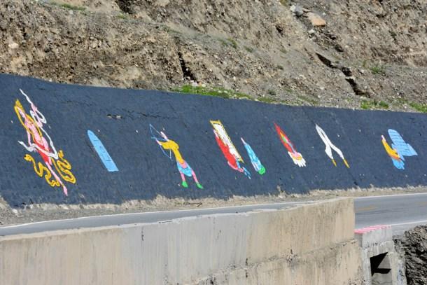 Tibetan art by the road.