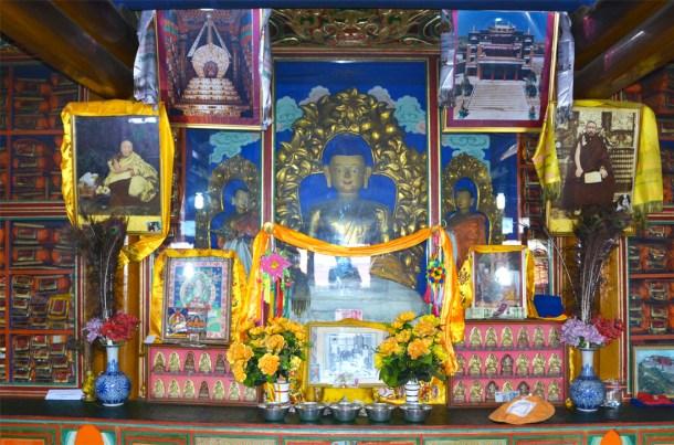 Inside the family shrine room.
