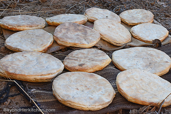 Tibetan breads, huge bread