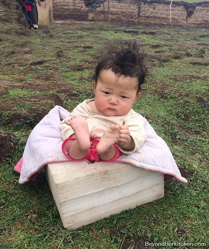 Tibetan nomad baby boy