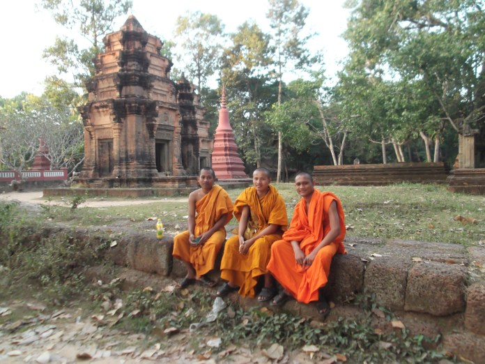 24. Wat Preah An Kau Sai – another contemporary temple in the city of Siem Reap that features a 20th-century monastery and the remains of two Angkor-era towers. These guys are 21 and 22 and had a great sense of humor.