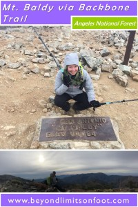 Mt. Baldy, Dawson Peak and Pine Mountain via Backbone Trail: Angeles National Forest