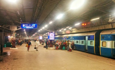 Late night at New Delhi Railway Station