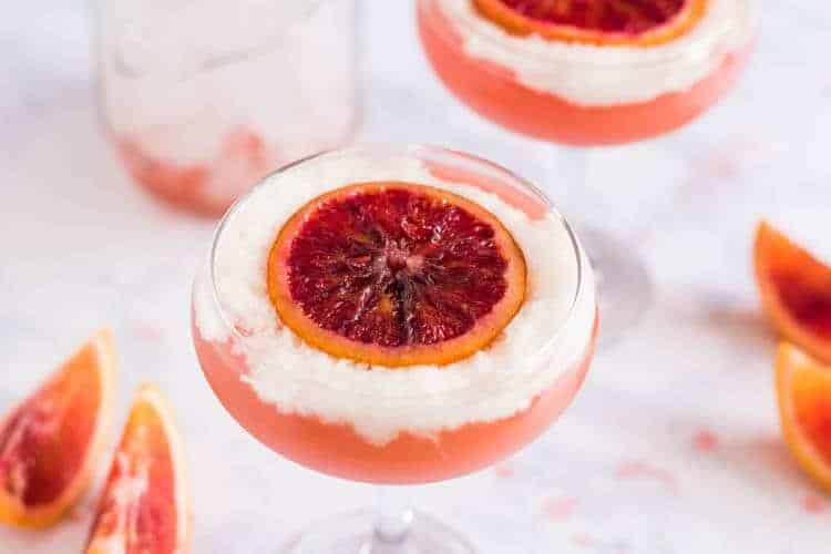 A Blood Orange Pisco Cocktail