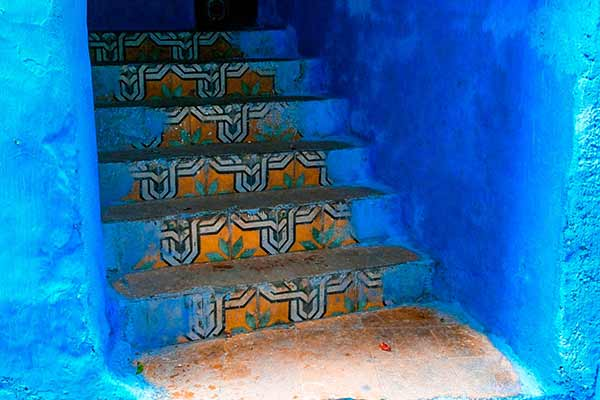 Chefchaouen Morocco Blue City,  Souika, Bab El Sor, and Rif As-Sabanin Oven