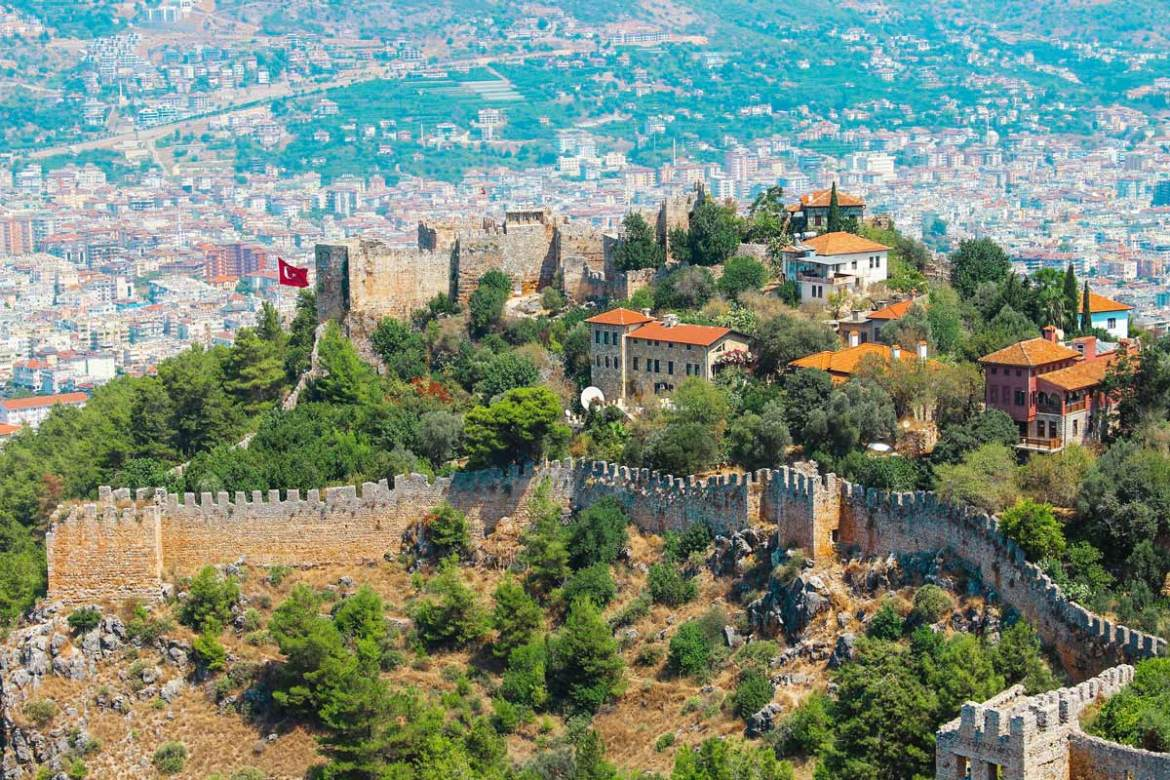 alanya antalya turkey beautiful castle