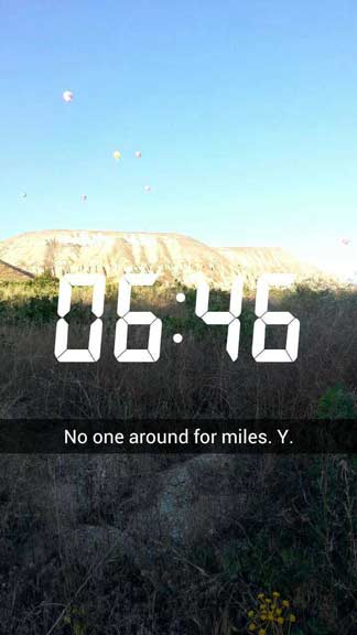 Snapchat of getting lost