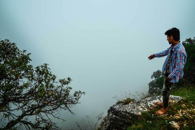 A foggy day in Pandukholi, an ashram, Dwarahat, India