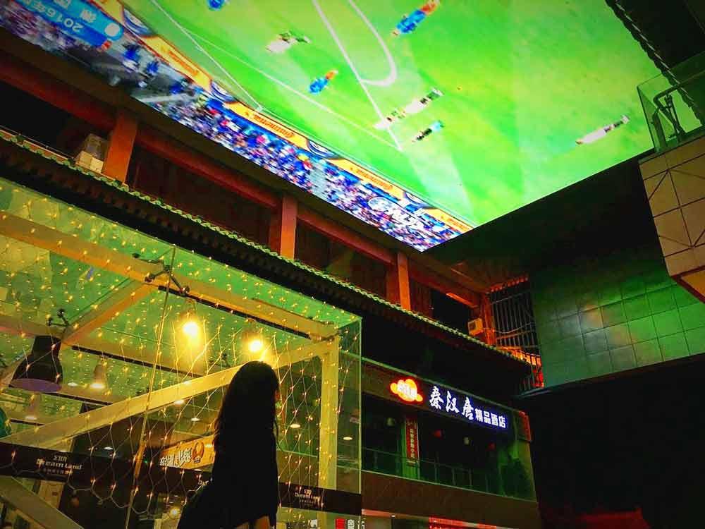 Big Screen TV in Xi'an mall, China