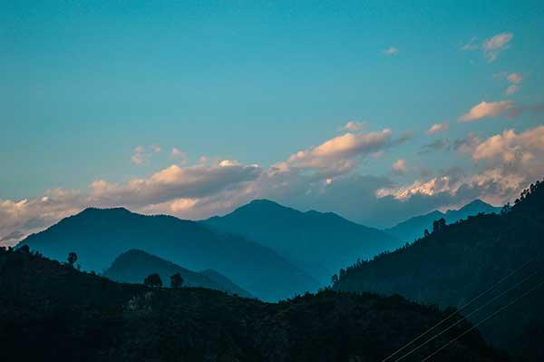 The Himalayas far away