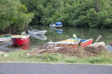 Fishing boats in a tidal creek on the north coast.