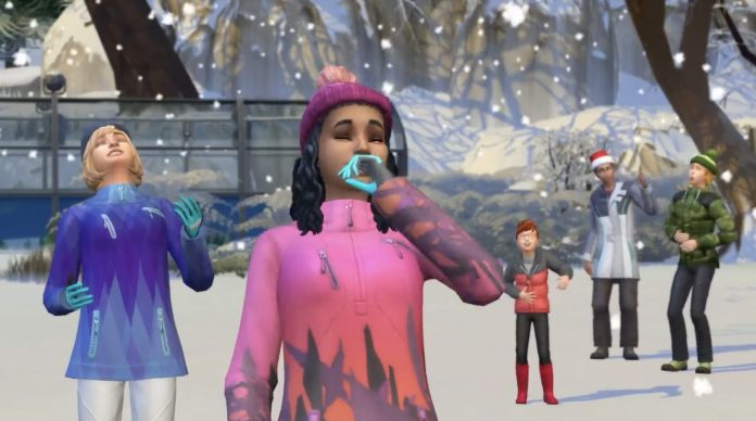 Winter weather in The Sims 4 Seasons